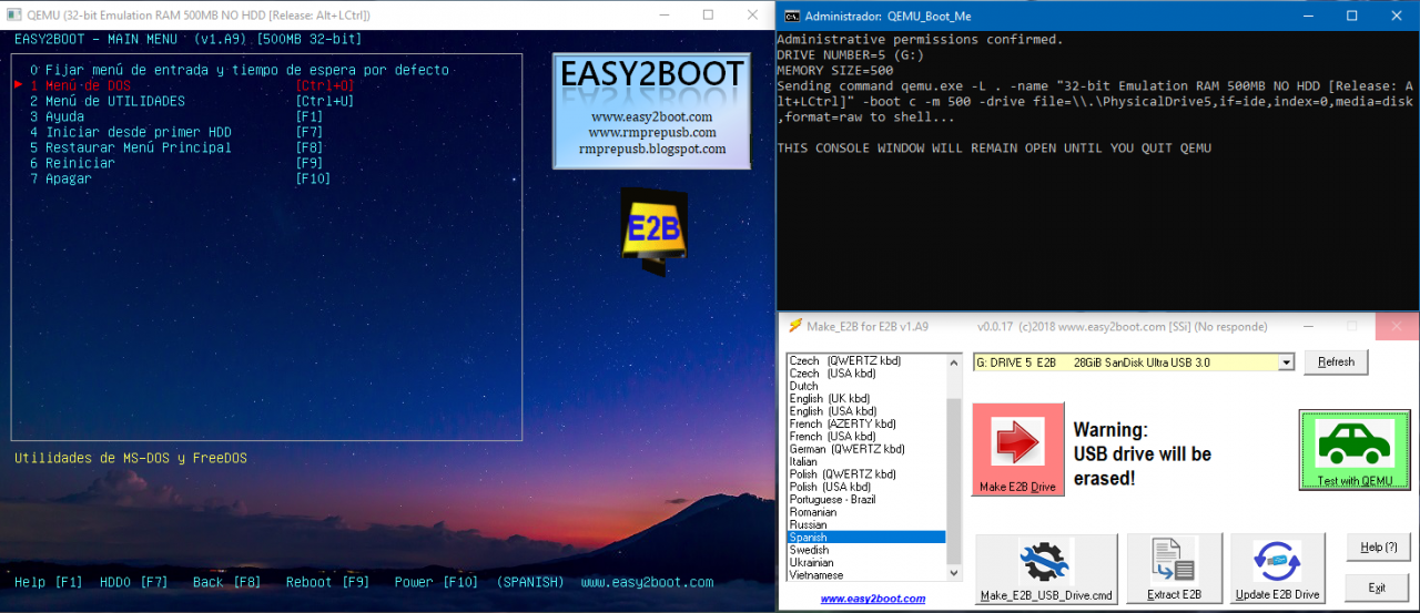 USB Multi-boot: Easy2Boot