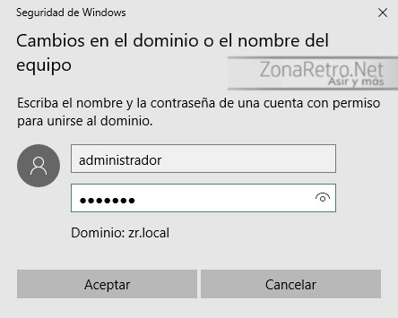 Unir equipo con Windows 10 a Dominio con Windows Server 16
